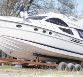 Съемка спуска яхты из эллинга яхт-клуба «Речка»