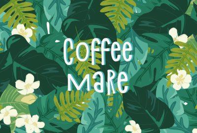 Логотип и айдентика для кофейни Coffee Mare